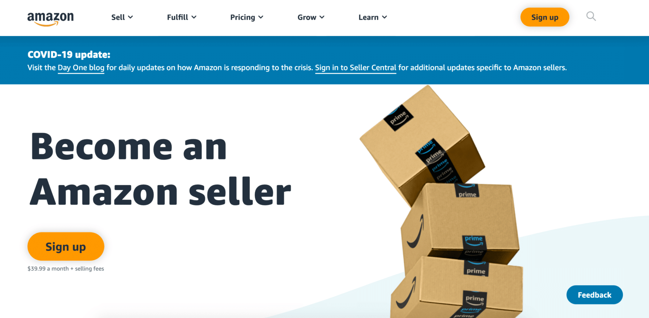 amazon professional seller account